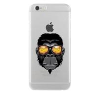 Remeto Samsung Galaxy J1 Cool Maymun Transparan Silikon Resimli Kılıf