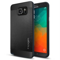 Spigen Samsung Galaxy Note 5 Kılıf Neo Hybrid Carbon Metal Slate - SGP11690