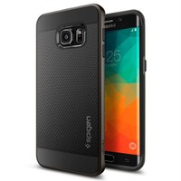 Spigen Samsung Galaxy S6 Edge Plus Kılıf Neo Hybrid Carbon Gun Metal - SGP11704