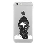 Remeto iPhone 6/6S Plus Şeffaf Silikon Resimli Maskeli Kız
