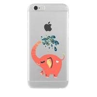 Remeto iPhone 6/6S Neşeli Fil Apple Şeffaf Silikon Resimli Kılıf