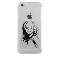 Remeto iPhone 6/6S Marilyn Monroe Apple Şeffaf Silikon Resimli Kılıf