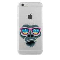 Remeto iPhone 6/6S Relax Goril Apple Şeffaf Silikon Resimli Kılıf
