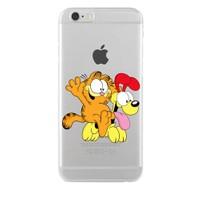 Remeto Samsung Galaxy S5 Mini Transparan Silikon Resimli Garfield Ve Odie