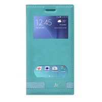 Teleplus Samsung Galaxy J2 Çift Pencereli Mıknatıslı Kılıf Turkuaz