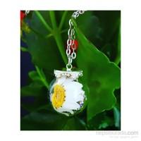 Güven Altın Yaşayan Kolyeler Kristal Cam Kurutulmuş Çiçekler Yk129