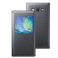 Microsonic View Cover Delux Kapaklı Samsung Galaxy A5 Kılıf Akıllı Modlu Siyah - CS150-V-DLX-GLX-A5-