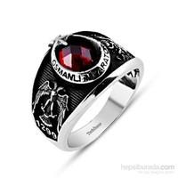 Tesbihane 925 Ayar Gümüş Selçuklu Kartallı Armalı İmparator Yüzüğü