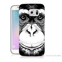 Teknomeg Samsung Galaxy S6 Edge Plus Kılıf Kapak Maymun Baskılı Silikon