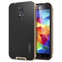 Spigen Samsung Galaxy S5 Neo Hybrid Kılıf - Copper Gold