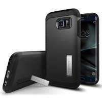 Spigen Samsung Galaxy S7 Edge Kılıf Tough Armor Black - 556CS20045