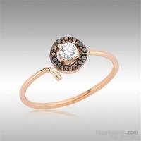 Sheamor Smoky Beyaz Taşlı Gümüş Tırnak Yüzüğü