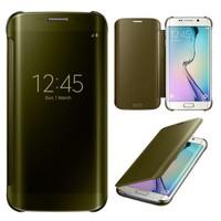 Teleplus Samsung Galaxy S7 Edge Aynalı Kılıf Kapak Gold