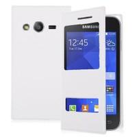 Teleplus Samsung Galaxy Ace 4 Pencereli Uyku Modlu Kılıf Beyaz