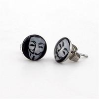 Solfera V For Vendetta Erkek Çelik Küpe E265