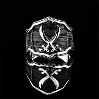 Tesbihevim Zülfikar Kılıcı Simgeli Zirkon Taşlı Erkek Gümüş Yüzük