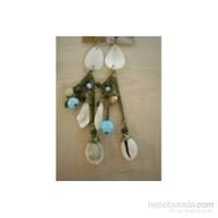 Bıggbıjoux Mavi Boncuklu Kabuklu Küpe