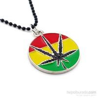 Solfera Pan African Cannabis Zincirli Erkek Kolye K485