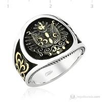 Tekbir Silver 925 Gümüş Taşsız Osmanlı Arma Erkek Yüzük MR0970073