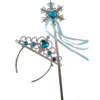 Pan Kostüm & Tasarım Elsa Frozen Taç + Asa