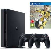 Sony Ps4 Slim 500 GB Cuh - 2016A Oyun Konsolu + Fifa 2017 (Türkçe) + 2. Kol