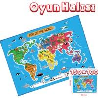 Akar Oyuncak Oyun Halısı Dünya 150 x 100 cm
