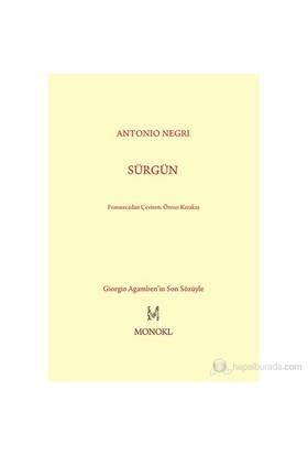 Sürgün-Antonio Negri