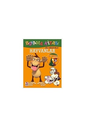 Hayvanlar Boyama Kitabı (CD Hediyeli)
