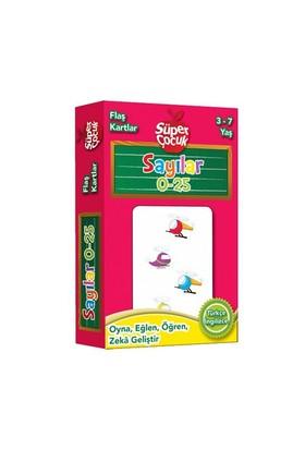 Flaş Kartlar: Sayılar 0 - 25 Oyna - Eğlen - Öğren - Zeka Geliştir (Süper Çocuk Serisi)-Kolektif