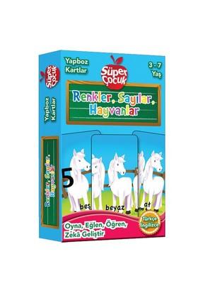 Yapboz Kartlar: Renkler, Sayılar, Hayvanlar 3-7 Yaş Oyna - Eğlen - Öğren - Zeka Geliştir (Süper Çocu