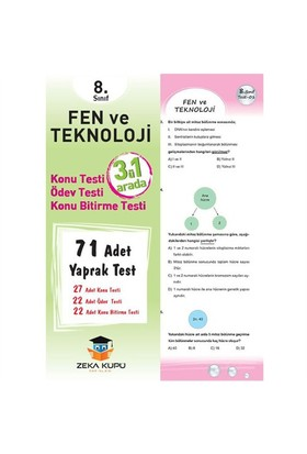 Zeka Küpü Yayınları 8.Sınıf Fen Ve Teknoloji Yaprak Test