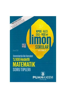 Puan Kpss Ales Dgs Ygs Ye Matematik Limon Çözümlü Sorular - Erol Öz