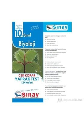 Sınav Dergisi Biyoloji Yaprak Test (24 Adet)