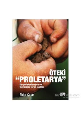 """Öteki """"Proletarya"""" - De-Proletarizasyon Ve Mevsimlik Tarım İşçileri-Sidar Çınar"""