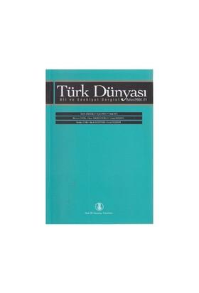 Türk Dünyası Dil Ve Edebiyat Dergisi Sayı: 21-Kolektif