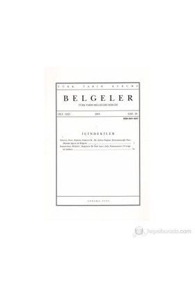 Türk Tarih Belgeleri Dergisi Cilt: 25 Sayı: 29-Kolektif