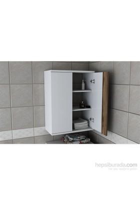 Zen Çamaşır Makinesi Üst Dolabı - Beyaz