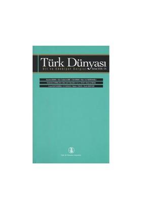 Türk Dünyası Dil Ve Edebiyat Dergisi Sayı: 25