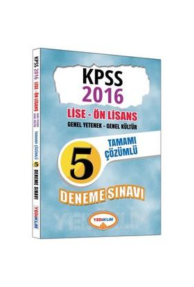 Yediiklim 2016 Kpss Lise Önlisans Genel Kültür Genel Yetenek Tamamı Çözümlü 5 Deneme Sınavı-Kolektif