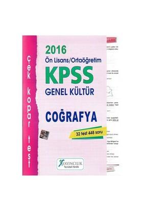 X Yayınları Kpss 2016 Ortaöğretim Ön Lisans Coğrafya Çek Kopar Yaprak Test-Kolektif