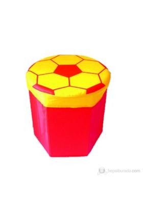 Hepsiburada Home Çocuk Puf Sarı Kırmızı
