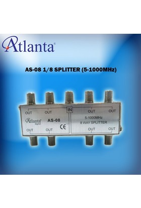Atlanta AS-08 1/8 Uydu Bölücü (5-1000 MHz)
