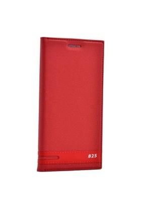 Teleplus Htc Desire 825 Mıknatıslı Kapaklı Kılıf Kırmızı