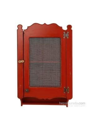Orta Sofa Eskitme Kırmızı Telli Dolap