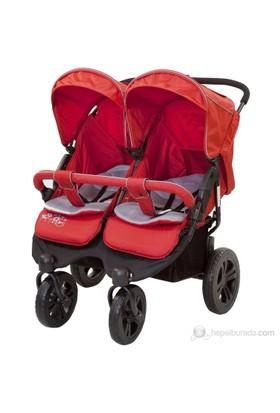 Sunny Baby Sweety İkiz Bebek Arabası - Kırmızı