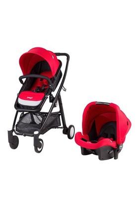 Prego 2088 Neon Travel Sistem Bebek Arabası / Kırmızı