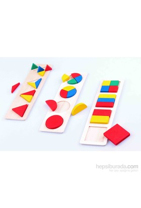 Learning Toys 3 in 1 Wooden Montessori Blocks Set