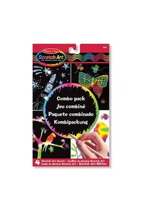 Melissa & Doug Kazıma Sanatı Renkleri Ortaya Çıkar Combo Paket