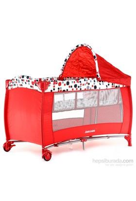 WellGro Easy Sleep Ara Katlı Oyun Parkı / 60x120 cm / Kırmızı