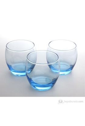 Paşabahçe 3.Lü Barrel Bardak-Mavi